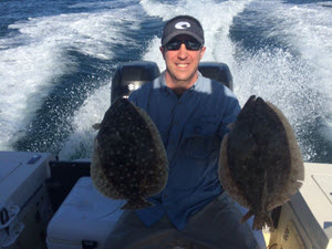 Flounder Caught in Amelia Island Offshore Fishing Charter