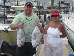 Fernandina Beach Charter Fishing - Caught an African Pompano Fish