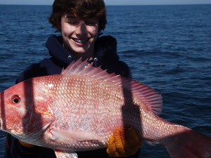 Amelia Island Offshore Fishing - Caught Red Snapper