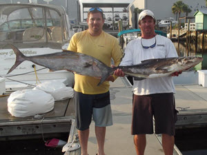 Fernandina Beach Offshore Fishing - Caught an Amber Jack Fish
