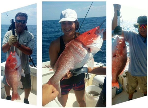 Red Snapper caught Fernandina Beach Offshore Fishing Charter